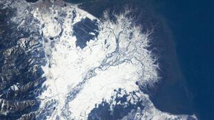 Bajkalska delta skuta lodem