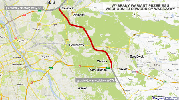 Tędy pobiegnie Wschodnia Obwodnica Warszawy