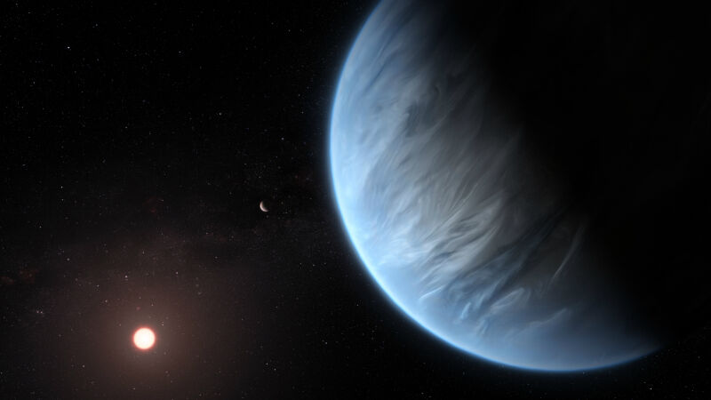 Artystyczna wizualizacja planety poza Układem Słonecznym
