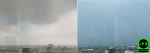 Tak wyglądało przejście burzy nad Warszawą