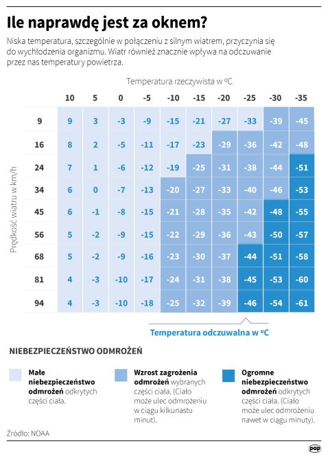 Jaka jest temperatura odczuwalna? (Maria Samczuk, Maciej Zieliński, Adam Ziemienowicz/PAP)