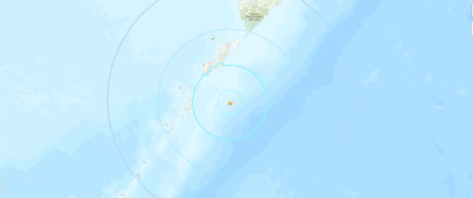 Trzęsienie ziemi na Kurylach (USGS)