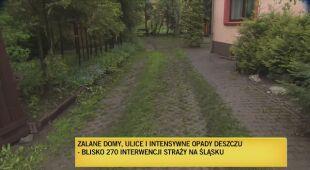 Zalane domy, ulice po burzach na Śląsku